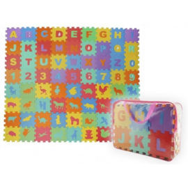 Foam foam puzzelmat - vloermat -speelmat alfabet - cijfers en dieren