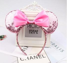 Diadeem Minnie Mouse oren pailetten roze