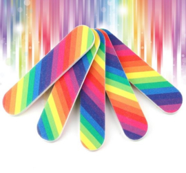 5 stuks mini nagelvijl regenboog