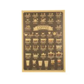 Retro poster koffie