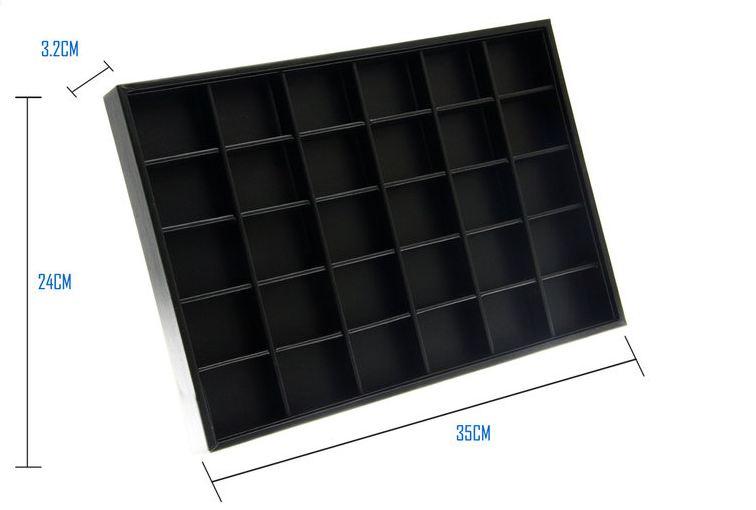 Display met 30 vakken zwart lederlook