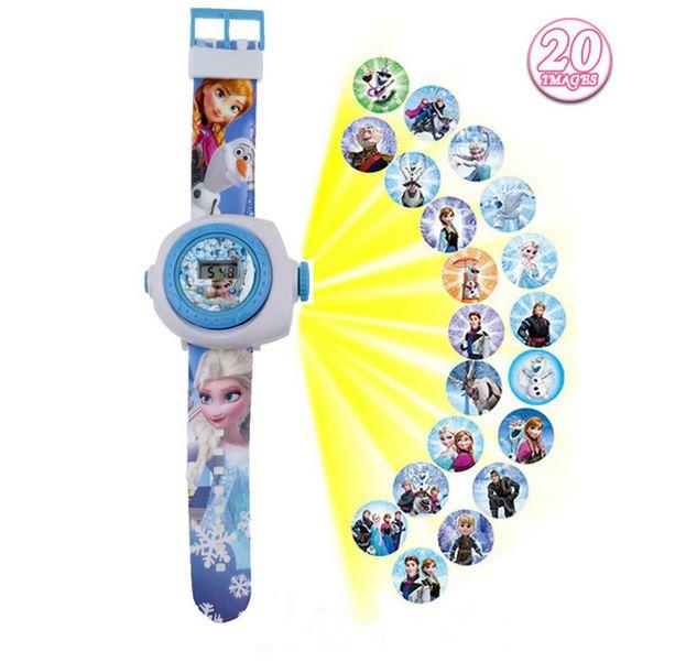 Digitale projectie horloge Frozen