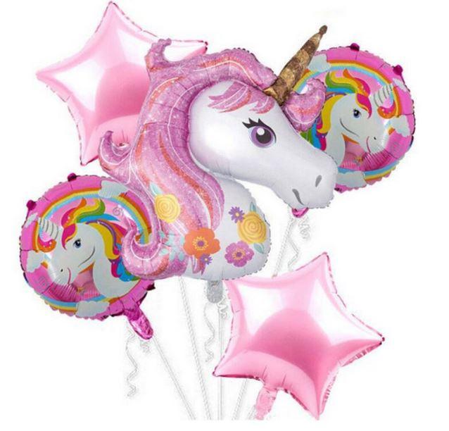 5 stuks Unicorn - eenhoorn ballonnen