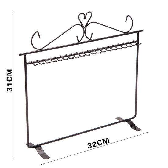 Metalen sieraden display 31 x 32 cm