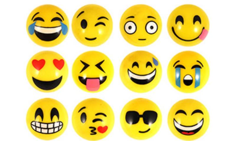 6 stuks Smiley ballen met licht 5cm