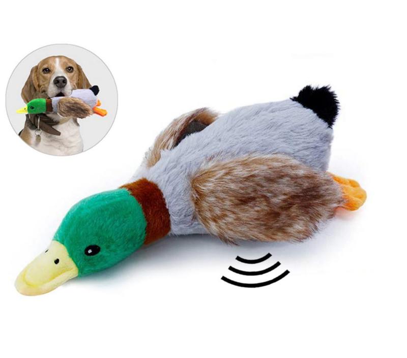 hondenspeelgoed eend piepend 30 cm