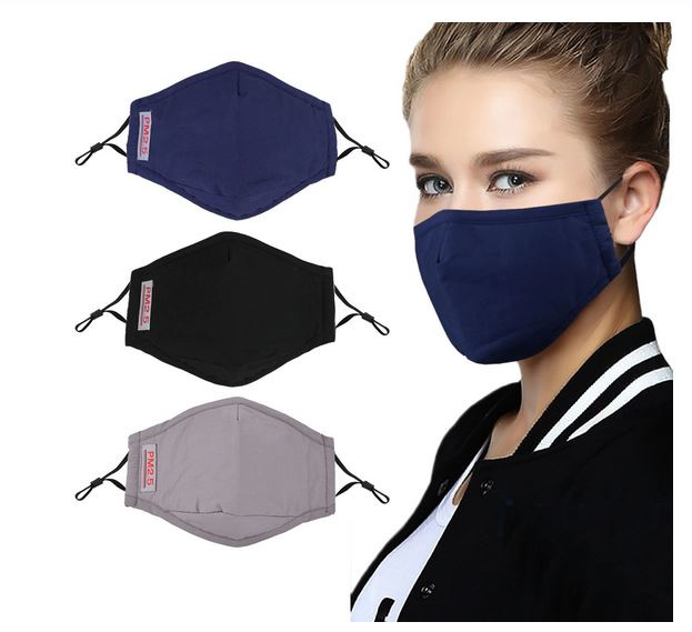 3 stuks wasbare mondmaskers + 6 filters