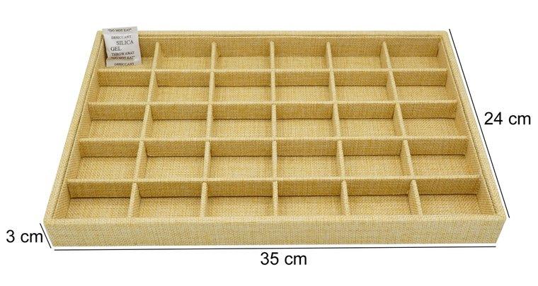 Sieraden display bamboe look 30 vakken