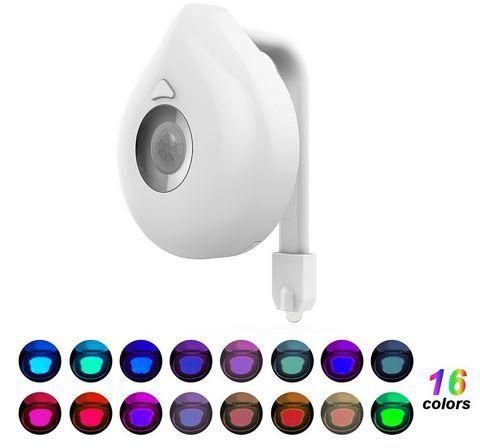 Automatische toilet LED verlichting - 16 kleuren