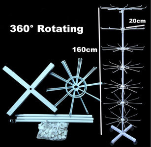 Display molen Wit Groot 150 cm hoog