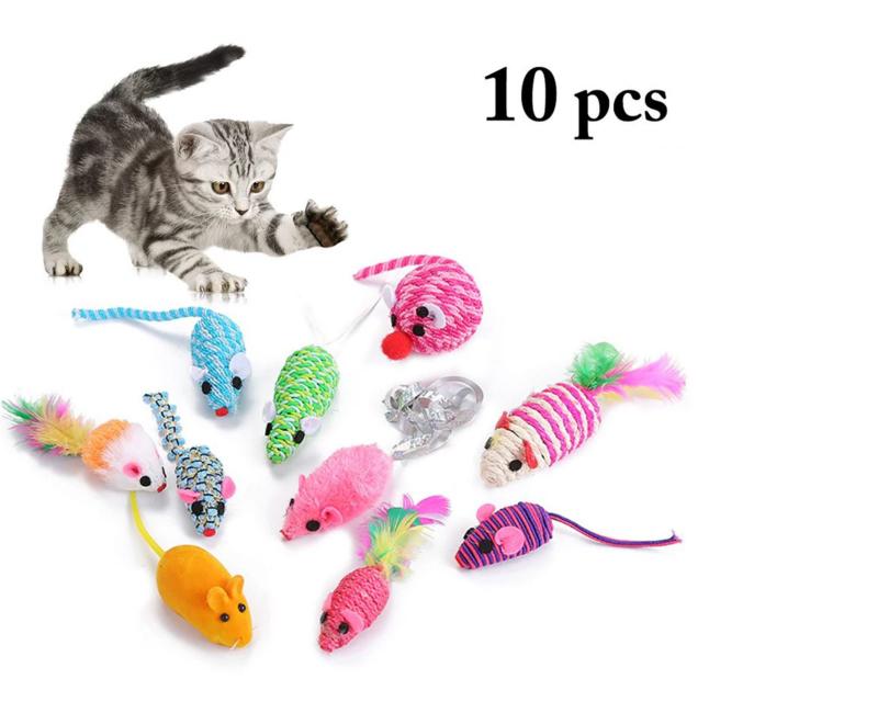 10 verschillende muizen - kattenspeelgoed