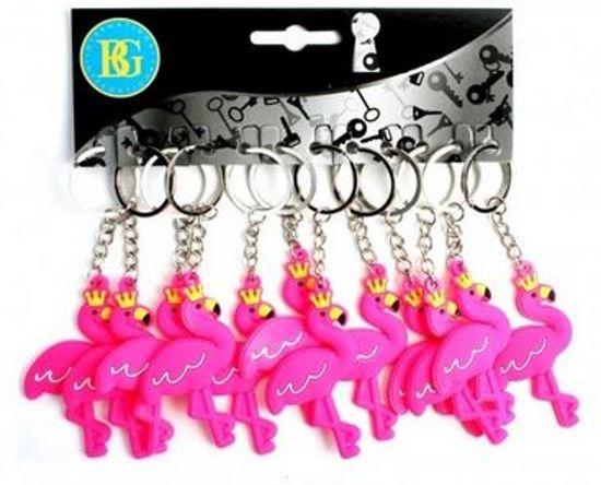 12 stuks sleutelhanger flamingo