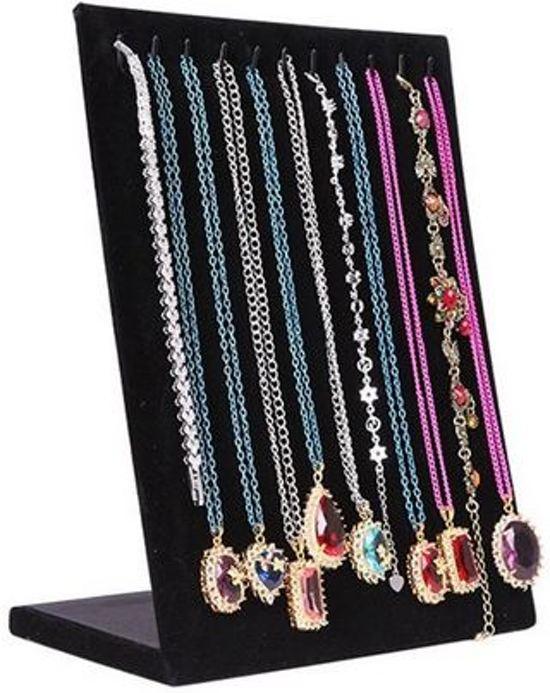 Armbanden / kettingen display fluweel zwart