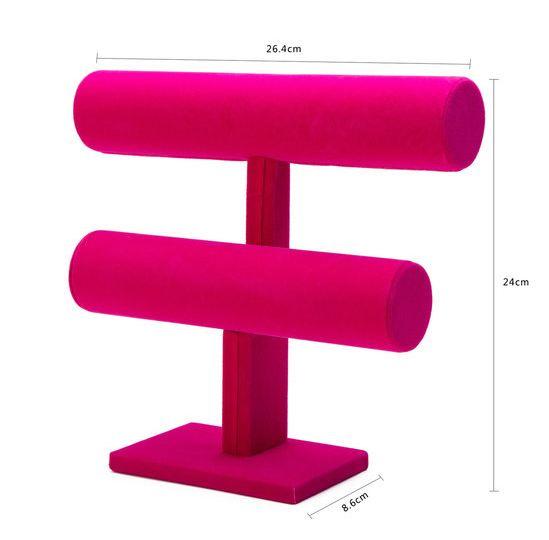 Armbanden display roze 2 rollen