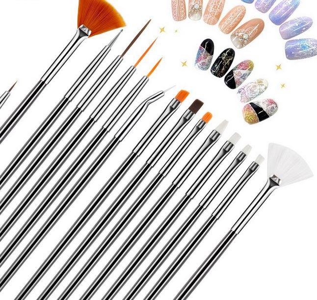 15 stuks nail art penselen tools
