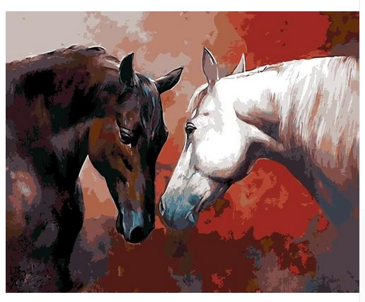 Painting by number paarden