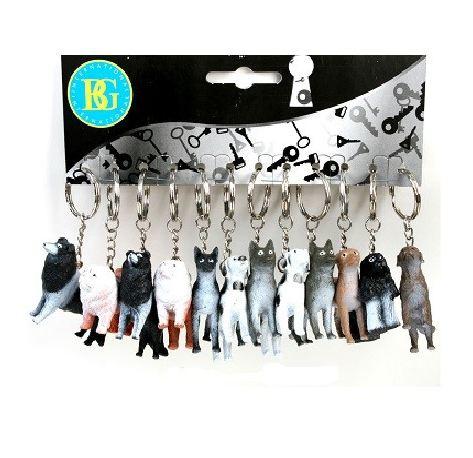 12 stuks honden sleutelhangers