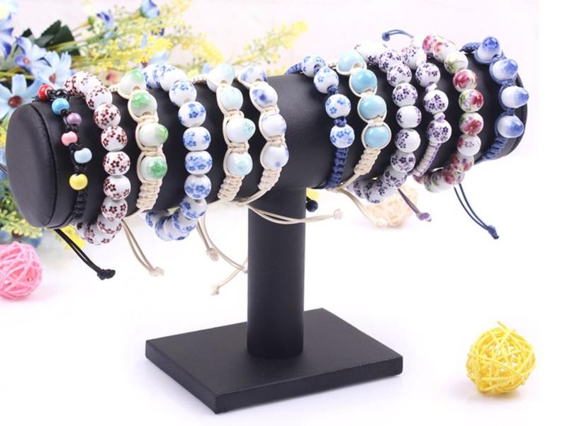 Armbanden display lederlook zwart 1 rol