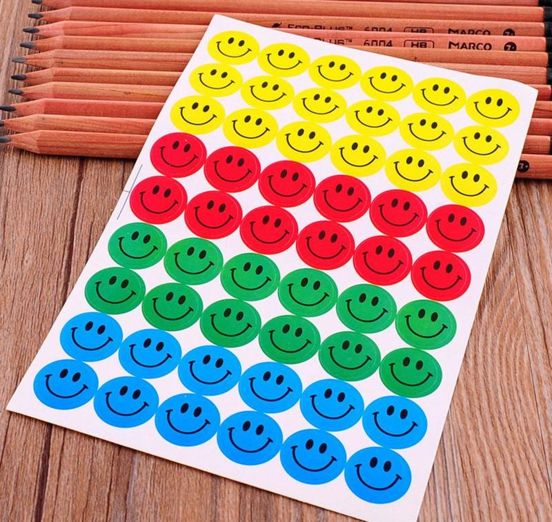 10 velletjes Smiley stickers multi color