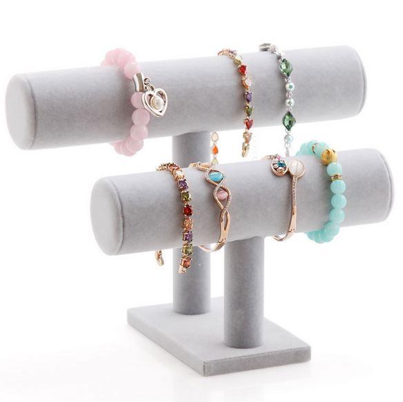 Armbanden display grijs 2 rollen