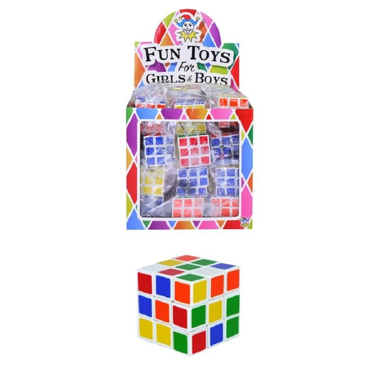 12 stuks mini puzzel kubus - uitdeelcadeautjes