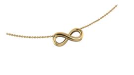 Gouden collier Infinity. Keuze uit geel, rood of witgoud.