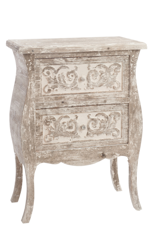Commode 2lades Boho Hout Zand Kasten Bbb Decorations