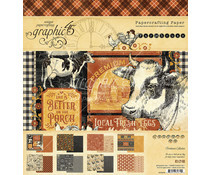 4502058 Paperpad 8x8inch - Farmhouse - Graphic45