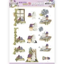 SB10531 Stansvel 3D vel A4 - Beautiful Garden - Marieke Design