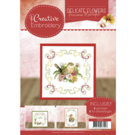 CB10014 Creative Embrodery  - Delicate Flowers - Marieke Design