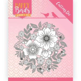 JADD10084 Snij- en embosmal - Happy Birds - Jeanine's Art