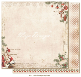 870 Scrappapier dubbelzijdig - I Wish - Maja Design