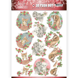 SB10387 Uitdrukvel A4 - Lovely Christmas - Jeanine's Art