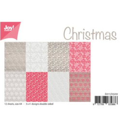6011/0509 Paperbloc A4 a 12 vel - Christmas - Joy Crafts