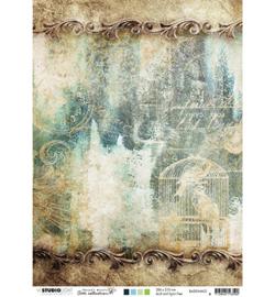 BASISJMA03 Achtergrondpapier A4 dubbelzijdig - Jenine's Mindful Art - Studio Light