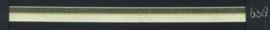 9mm lint Organza/Satijn - Licht Geel - 1 meter