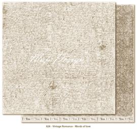 828 Scrappapier dubbelzijdig - Vintage Romance - Maja Design