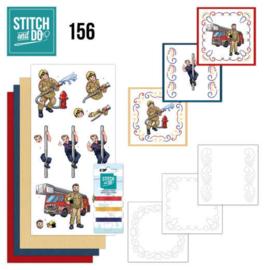 Stitch and Do 156 - set voor 3 borduurkaarten