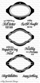 LJD-Vintage Frames - Clear stempel - My Favorite Things