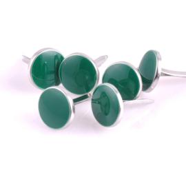 Enamal Brad met zilver - 10 stuks - Groen
