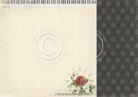 PD6802 Scrappapier dubbelzijdig - To My Valentine - Pion Design