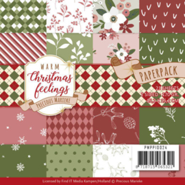 PMPP10024 Paperpad Warm Christmas Feelings - Marieke Design
