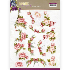 CD11611 3D Knipvel A4 - Romantic Roses - Marieke Design