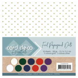 CDEPP004 Foil Paperpack 50 sheets - 15x15cm - Card Deco