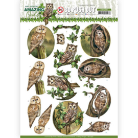 SB10487 Stansvel  A4 - Amazing Owls - Amy Design
