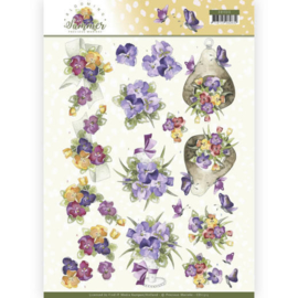 CD11313 3D vel A4 - Blooming Summer - Marieke Design