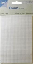 Foam Pads 1,5mm/2,5mm blok wit 6500/0012 10x15cm - Joy Crafts