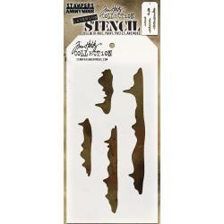 "THS114 Snowcap Layered Stencil 4.125""X8.5"" - Tim Holtz"