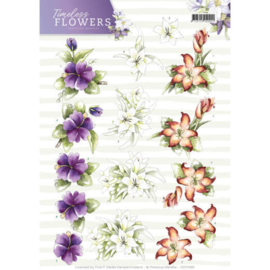 CD11085 Knipvel A4 - Timeless Flowers - Marieke Design