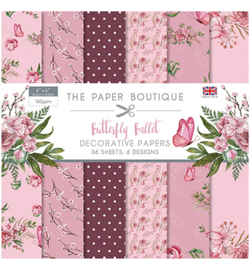 PB1165 Paperpad 15.5 x 15.5 cm Butterfly Ballet - The Paper Boutique